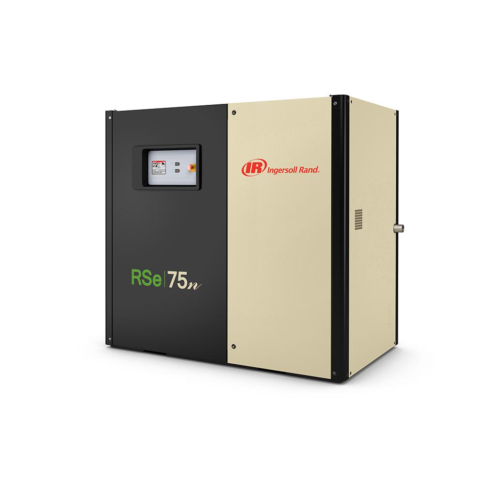 Винтовой маслозаполненный компрессор с частотным преобразователем RSe75i-A7.5
